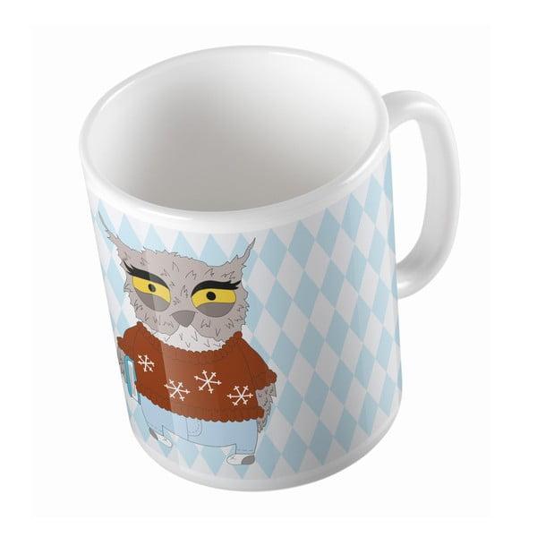 Keramický hrnek Angry Owl, 330 ml