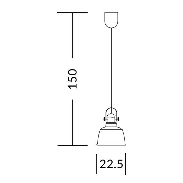 Stříbrná stropní lampa Garageeight Etel