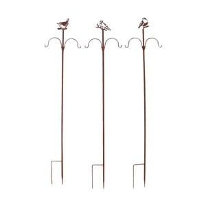 Sada 3 zápichů pro zavěšení ptačího zobu Esschert Design, výška149cm