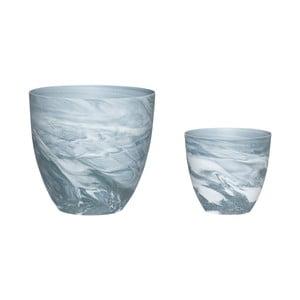 Sada 2 porcelánových svícnů Hübsch Aeqor