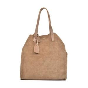 Béžová kožená kabelka Carla Ferreri Ashley Mento