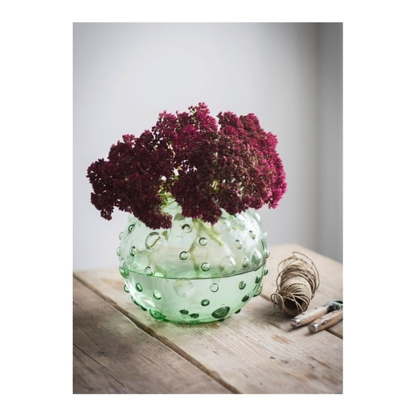 Zelená váza Garden Trading Berriedale, výška18cm