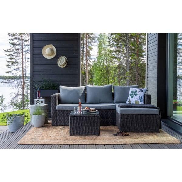 Sofa ogrodowa z konstrukcją ze sztucznego rattanu Le Bonom Mutio