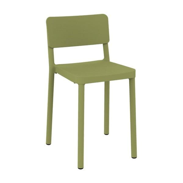 Sada 2 zelených barových židlí vhodných do exteriéru Resol Lisboa, výška 72,9 cm