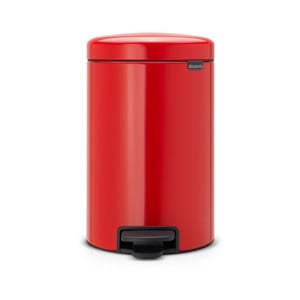 Červený pedálový odpadkový koš Brabantia Newicon, 5l