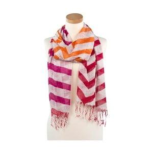 Šátek Alma Orange and Pink