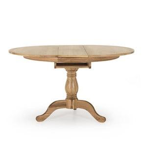 Rozkládací kruhový jídelní stůl z dubového dřeva Vida Living Carmen, průměr 1,4m