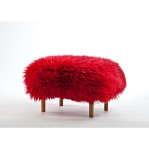 Stolička z ovčí kůže Bethan Dragon Red