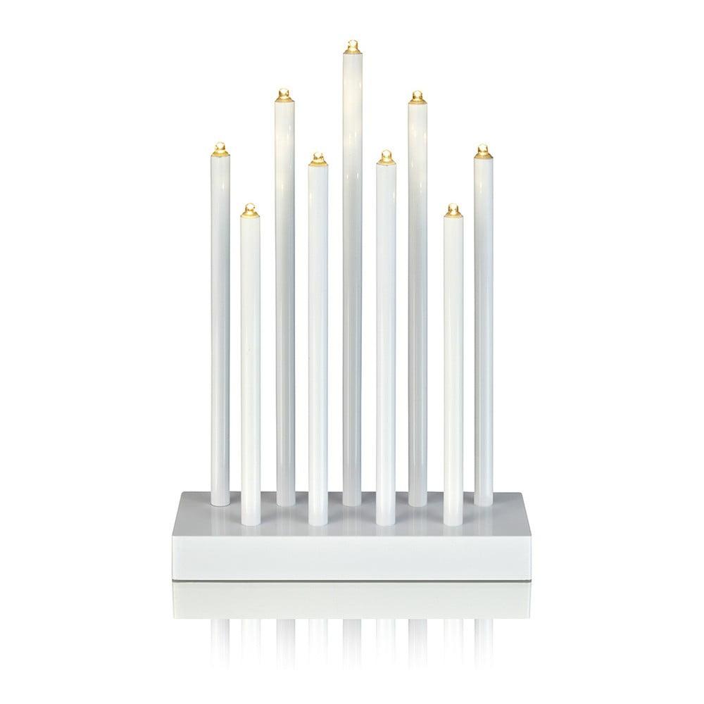 Bílý svítící LED svícen Markslöjd Viik