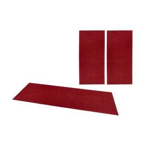 Sada 3 červených koberců Hanse Home Pure