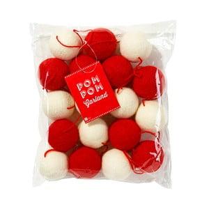 Girlanda Talking Tables Pom Pom Red/White