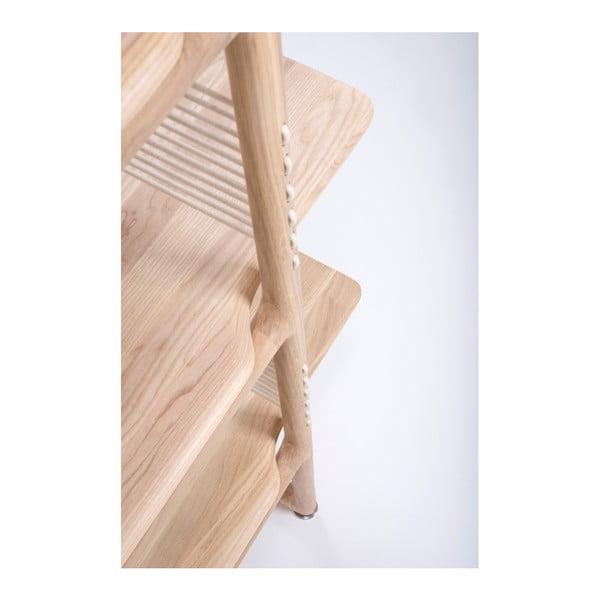Knihovna z masivního dubového dřeva Gazzda Muse, výška216cm