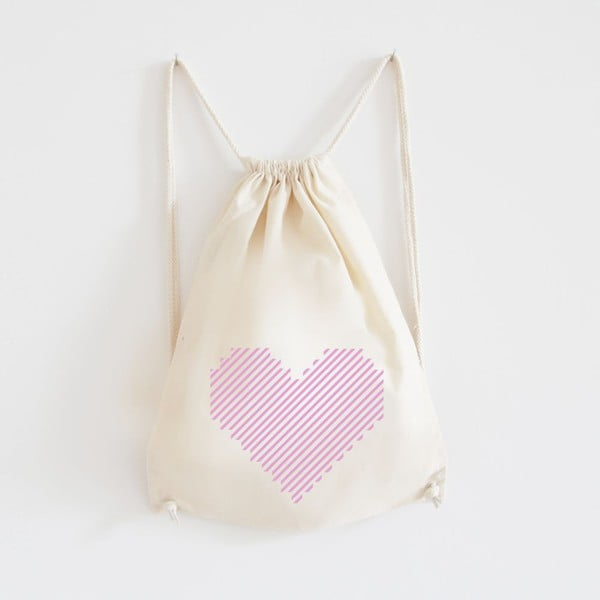 Plátěný batoh Gestreiftes Hert Rosa