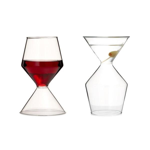 Oboustranná sklenice Vino Tini