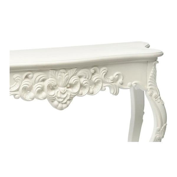 Konzolový stolek Flower White, 136x45x76 cm