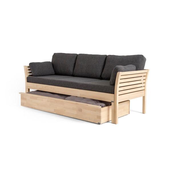 Ručne vyrobený úložný diel z masívneho brezového dreva k pohovke Kiteen Kanerva