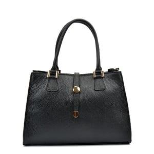 Černá kožená kabelka RenataCorsi Irene