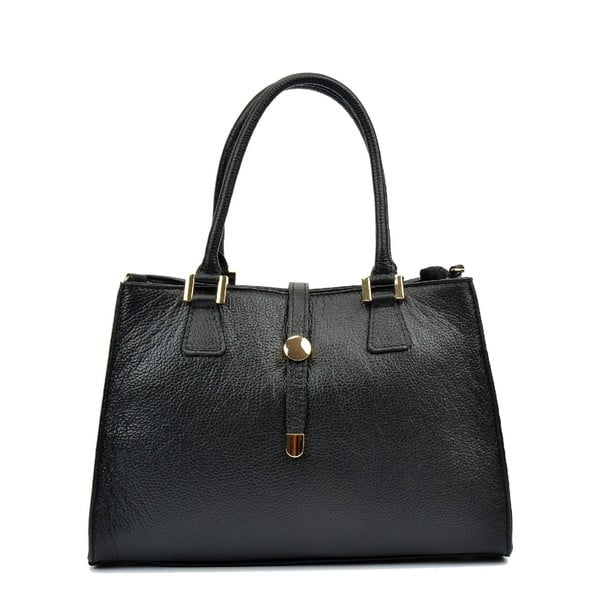 Čierna kožená kabelka Renata Corsi Irene