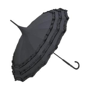 Černý holový deštník Von Lilienfeld Pagoda Amelie