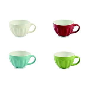 Set 4 căni colorate din ceramică Villa d'Este Manico, 470 ml