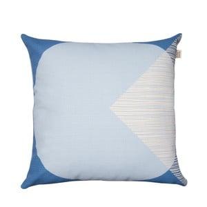 Pernă cu husă reversibilă Orla Kiely OK Cushion, 45 x 45 cm, albastru deschis