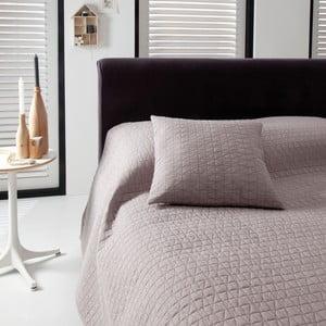 Přehoz přes postel Shape Taupe, 270x270 cm