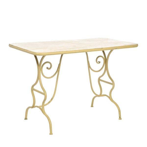 Kovový stolek Curl Yellow