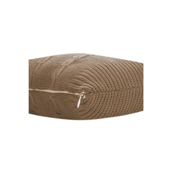 Pletený polštář Kosem 43x43 cm, béžový