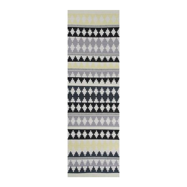 Zelený bavlněný koberec  Linie Design Nantes, 80x250cm