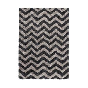 Hnědo-černý ručně tkaný koberec Kayoom Finese Hully,80x150cm