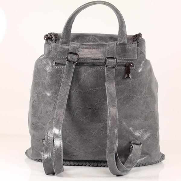 Kožený batůžek Emily, šedý