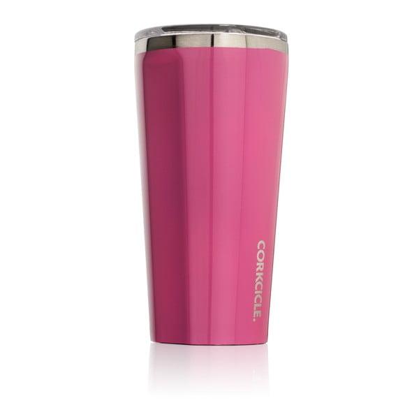 Růžový cestovní termohrnek Root7 Tumbler,260 ml