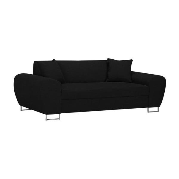 Canapea 3 locuri Kooko Home Piano, negru
