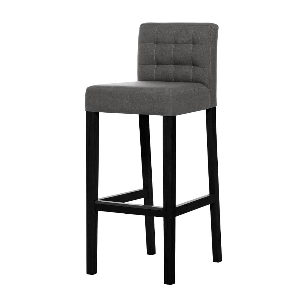 Šedohnědá barová židle s černými nohami Ted Lapidus Maison Jasmin