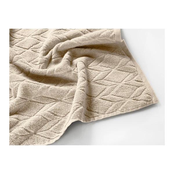 Světle hnědý bavlněný ručník Maison Carezza Venezia, 50 x 70 cm