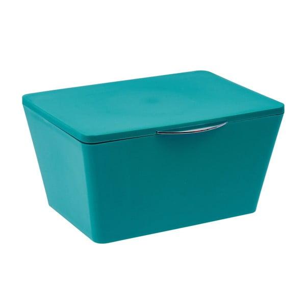 Petrolejově modrý koupelnový box Wenko Brasil