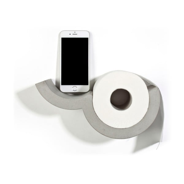 Nástěnný betonový držák na toaletní papír Lyon Béton Cloud