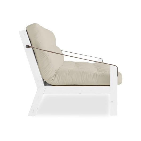 Canapea extensibilă Karup Poetry White/Beige