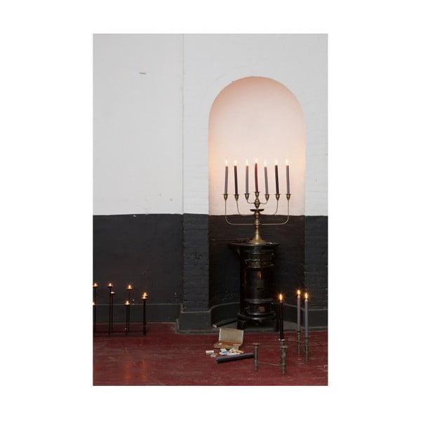 Sedmiramenný svícen v barvě mosazi De Eekhoorn Totem
