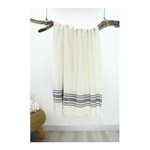 Prosop Hammam Bamboo Style, 90 x 180 cm, gri - alb
