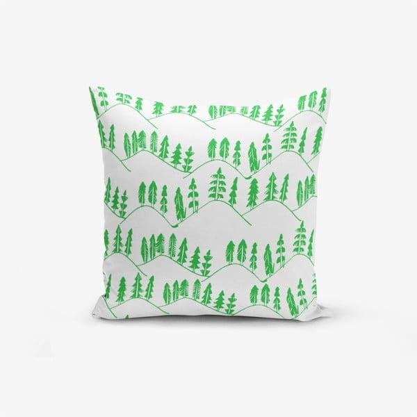 Față de pernă cu amestec din bumbac Minimalist Cushion Covers Modern Agac Verde, 45 x 45 cm