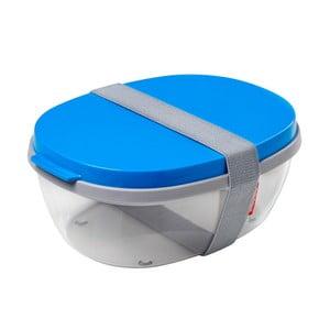 Salátový box s modrým víkem Rosti Mepal Ellipse
