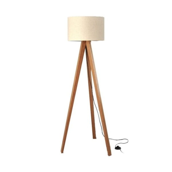 Stojací lampa Tripod Beige/Walnut
