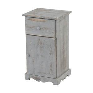 Noční stolek Mendler Shabby, šedý