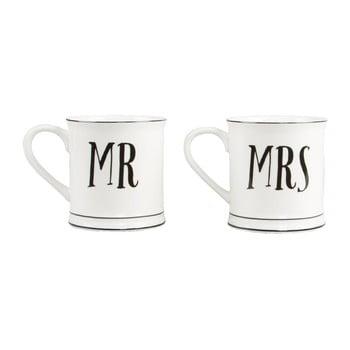 Set 2 căni din ceramică Sass & Belle Mr & Mrs de la Sass & Belle