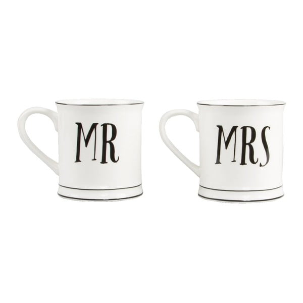 Set 2 căni din ceramică Sass & Belle Mr & Mrs