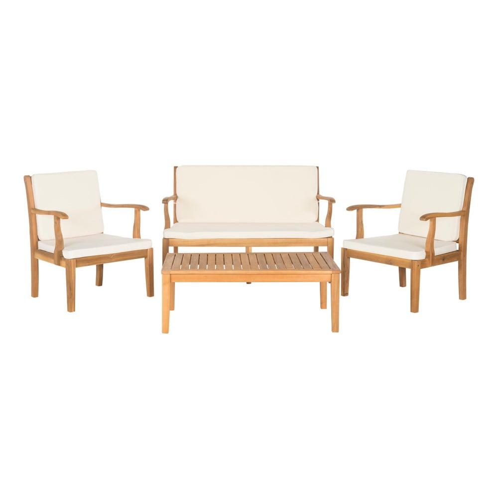 Set zahradního nábytku z akáciového dřeva Safavieh Mendoza