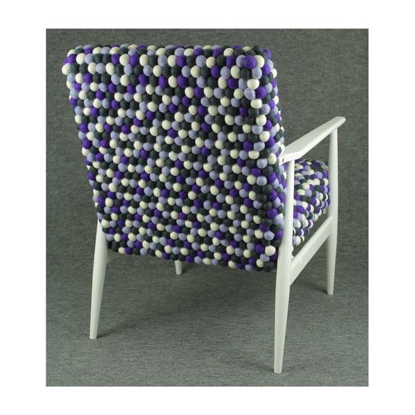 Ručně vyrobené kuličkové křeslo Lavender Field