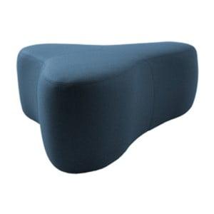 Tmavě modrý puf Softline Chat Felt Melange Petrol, délka 90 cm