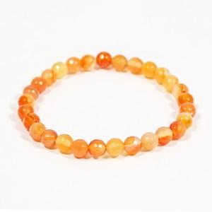 Oranžový náramek z přírodních minerálů s achátem Yogaly Tangerine Agate